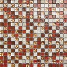 Mosaico de cristal del estilo moderno 15 * 15m m