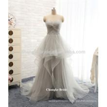Горячей продажи серый плюс платье модная длина пола тюль пром платья