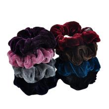 Coral Fleece Thick Scrunchies Solid Fall Winter Velvet Elastic Hair Band Rubber for Girl Women Bun Head Tie Hair Accessories