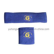 Venda quente de algodão Terry Sports Wristband / Headband