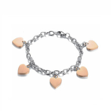 New Design Heart Charm Bracelet Jewelry, Stainless Steel Jewelry Foot Chain Anklet