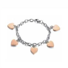 Jóia nova do bracelete do encanto do coração do projeto, tornozeleira de aço inoxidável da corrente do pé da jóia