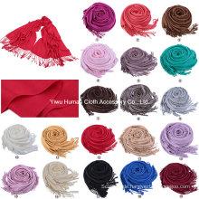 Art und Weise 100% Pashmina fester langer Schal-Großverkauf