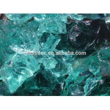 landscaping slag glass rock in gabion