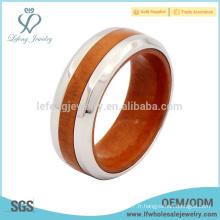 Les dernières bijoux en titane et en anneaux de mariage en bois, bagues en anneau de titane
