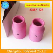 Aluminium 53N87 ceramic nozzle for tig