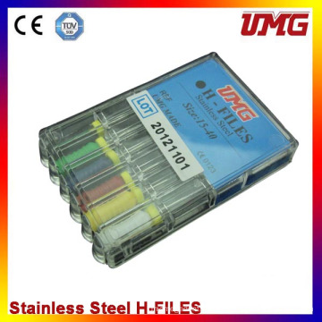 Stainless Steel Dental Root Canal Files (H hand SS)