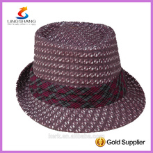 DSC 0001 LINGSHANG sombrero de paja de papel barato al por mayor de encargo