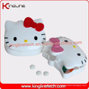 Latest Design Plastic 4-Cases Pill Box (KL-9093)