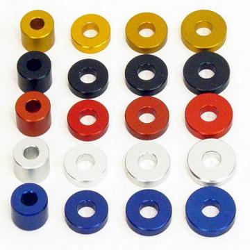 Много видов цветных анодированных алюминиевых шайб