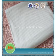100% polyestesr microfibre hôtel blanc moins cher feuilles plates