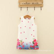 Lolita Stil floral Baby Mädchen Kleider beiläufige knielange niedliche weibliche Frau Kleidung Baby Mädchen Rundhalsausschnitt