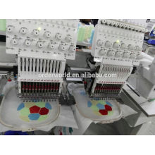 9 colors 2 heads cap/t-shirt/flat embroidery machine
