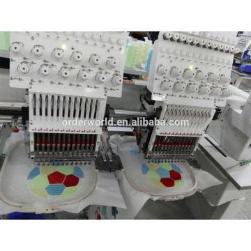 9 cores / 12 agulhas 2 cabeças Computador Bordado Máquina preço