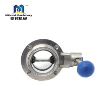 China Supplier Triclamp/ Welded/Threaded Sanitary Stainless Steel SS 304/ 316L Butterfly Valve