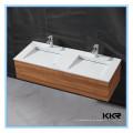 Dissipador acrílico do banheiro da superfície do acrílico do mármore do preço competitivo