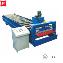 Corrugated sheet metal roof tile making machine
