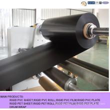 Feuille rigide de PVC noir mat pour l'impression