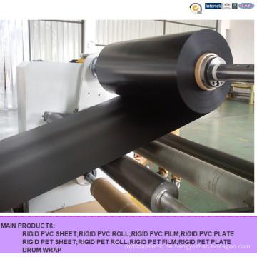 Mattschwarzes PVC-Hartgewebe zum Bedrucken