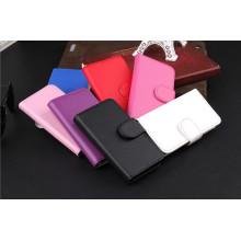Livro estilo Flip carteira caixa de couro para iPhone 5 5s