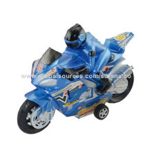 Friction power motorcycle with man (black/blue/red, 3 color)