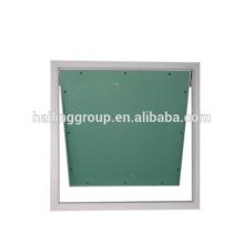 Puerta de acceso, trampilla de paneles de yeso con marco de aluminio, bloqueo de empuje