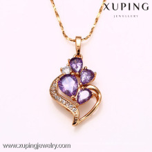 31735-Xuping Jewelry Wholesale Gold Girl crystal Necklace Pendant