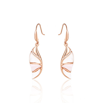 Unique Design White MOP Exquisite Fishhook Earrings