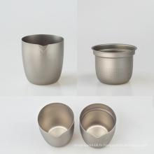 Tasse à thé unique en titane pur