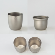Taza de té de titanio puro individual