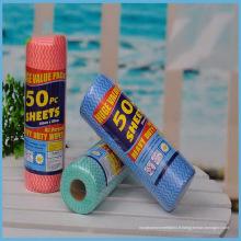 De Bonne Qualité Rouleaux non-tissés de tissu de Spunlace pour le ménage utilisant
