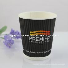 250ml personalizado Tripe corrugado Wall Paper Cup