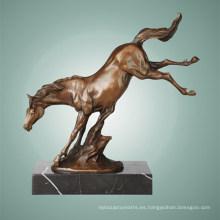 Animal Bronce Escultura Caballo Decoración De Latón Estatua Tpal-259