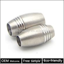 BX016 Atacado 304 de aço inoxidável magnético Barrel bloqueio fechos para pulseira jóias DIY resultados grátis amostra