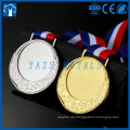 maßgeschneidertes Gold, Silber, Bronze Metall blank Insert Medaille