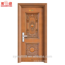 indian main door designs steel anti-thief door galvanized iron sheet finishing with metal handle