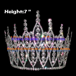 7inch All Clear Crystal Pageant Crowns