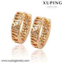 91912 Invisible réglage imitation pierres précieuses huggies boucles d'oreilles style simple bijoux fille à vendre