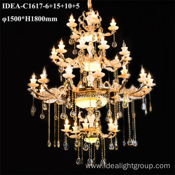 suspension hotel pendant lighting candle chandelier