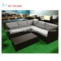 Balck Rattan Garden Corner Sofa with Coffee Table (CF1379-L)