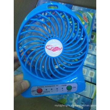 Promocional recargable mini ventilador portátil mini aire acondicionado