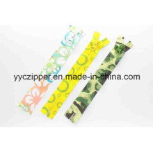 Waterproof Nylon Printing Zipper for Sales