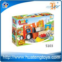 Bulldozers sólidos vendedores calientes de la educación pvc que construyen los juguetes de los bloques