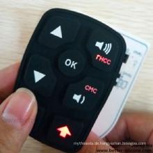 Fertigen Sie Elastomer-Plastiksilikon-Gummi-Laser-Radierungs-Tastatur besonders an