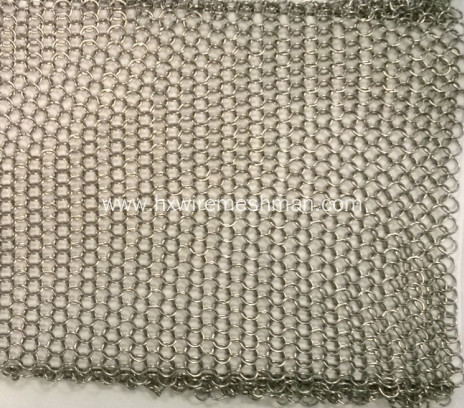 Flexible decorative wire mesh curtain
