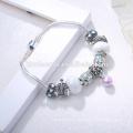 OEM jewellery Charm Bracelet,Crystal gemstone Bracelet crystals ,silver color bangle bracelet