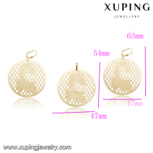 60211 best import wholesale jewelry custom engraved metal jewelry 18k roundness gold plated jewelry sets