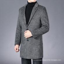 Winter New Woolen Coat Men′s MID-Length Business Jacket