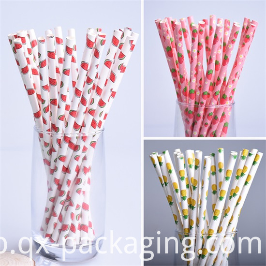 Striped Drinking Straws