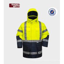 Chaqueta de trabajo de seguridad chaqueta de seguridad reflexiva chaqueta Hi-Vis para hombres ropa de trabajo